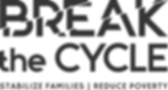break the cycle logo with tagline black.
