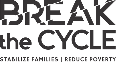 break the cycle logo with tagline black.