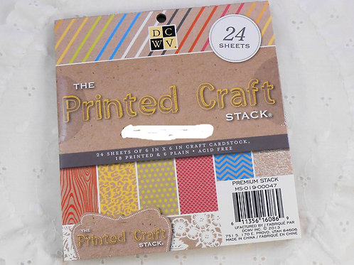 DCWV Printed Craft Stack 6x6 Pack 24 designs pretty scrapbooking crafts