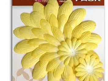 Mulberry Giant Daisy Layers Value Pack Yellow Flora Doodles 1320004