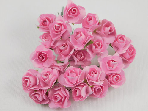 Scrapbooking Paper Flowers roses with stems Floral pink Embellishments