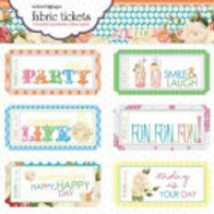 Fabric Tickets Websters Pages Lets Celebrate Labels - Item FT1400 Text