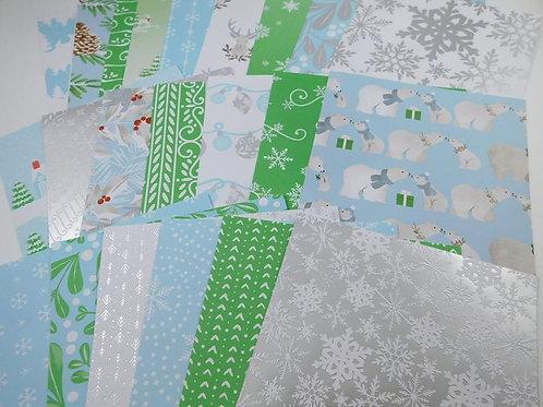 Martha Stewart Snowflake 6x6 SAMPLER Pack 23 designs pretty Metallic Foiled