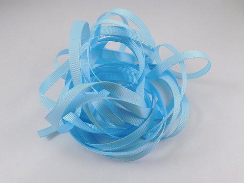 5 Yards Light Blue Grosgrain Ribbon 1/4 inch wide trim scrapbooking embellish