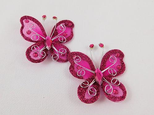 Dark Pink Glitter Butterflies Home Decor Crafts Supplies scrapbooking crafts pla