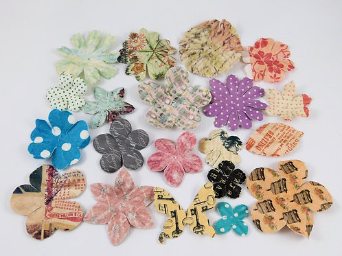 Prima Paper Flowers Pattern Assortment No 510 Got Flowers Floral Embellishments