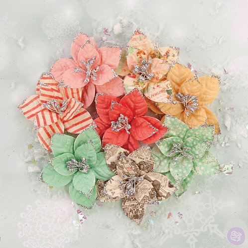 Prima Flowers Sweet Peppermint Flowers Holiday Carols 590635 Christmas Paper