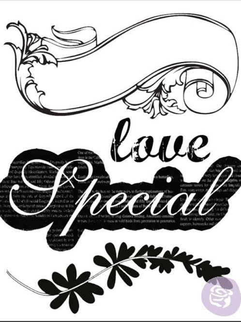 Rondelle Clear Stamp Set from Prima Marketing 559458 Special Love scrapbooking