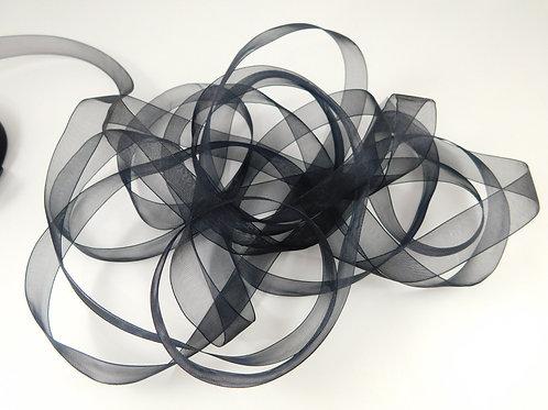 5/8 inch wide Black Sheer Organza Ribbon 3 Yards scrapbooking cards embellishmen