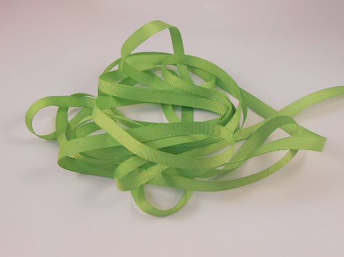5 Yards Spring Lime Green Grosgrain Ribbon 3/8 inch wide embellishment
