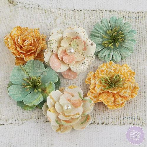 Prima Flowers Song Bird Vinetta Multi Colored 555559 Paper Floral Embellishments
