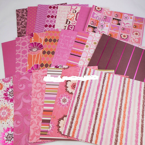 DCWV Haute Pink 6x6 SAMPLER Pack 22 designs Foil cardstock scrapbook cards