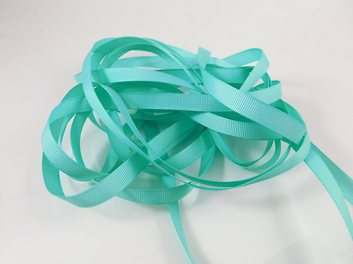 5 Yards Aqua Teal Grosgrain Ribbon 3/8 inch wide trim scrapbooking embellishment