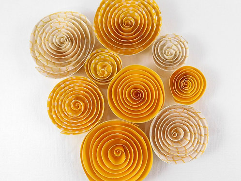Darice Rolled Paper Florets Yellow Pack 30030518 paper flowers craft scrapbook