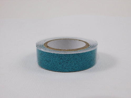 Washi Tape Roll 2.5 meters (2.73 yards) Glitter Aqua Embellishment crafts scrap
