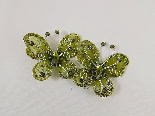 5 cm Moss Glitter Butterflies Home Decor Crafts Supplies