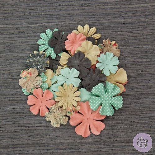 Prima Flowers Something Blue Mr and Mrs 575274 Multi Colored paper flowers flora