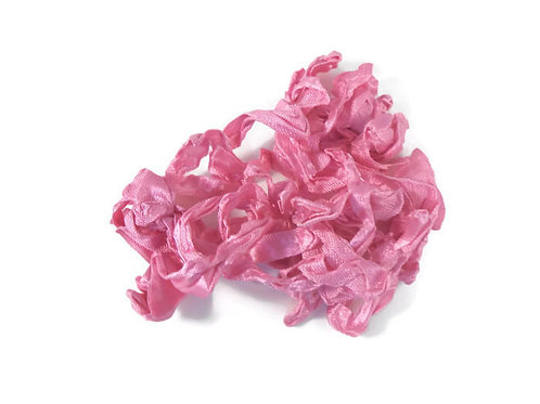 Azalea Pink Wrinkled Ribbon Handmade 4 Yards embellishment