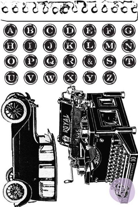 Prima Stamp Set - Romance Novel Cling Rubber Stamps Item 559335 Old time images
