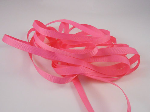 5 Yards Hot Pink Grosgrain Ribbon 3/8 inch wide embellishment bows
