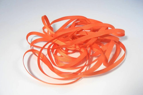 5 Yards Bright Orange Grosgrain Ribbon 1/4 inch wide Embelllishment Scrapbooking