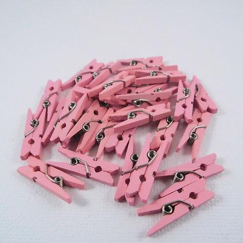 Darice Clothespin Embellishments Light Pink 30029531 3d mini clothespins