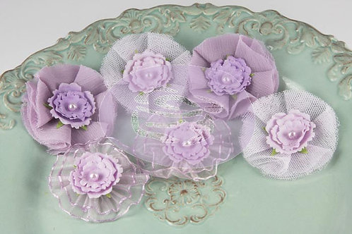 Prima Flowers Bronte Blooms Orchid Pack 542894 fabric tulle sheer purple