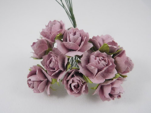 1 inch Scrapbooking Paper Flowers Jasmine with stemsl Light Purple roses