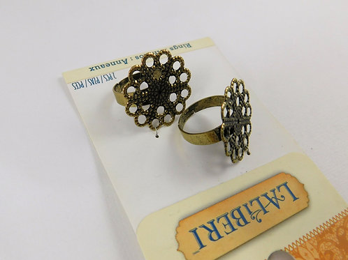 LaLiBeri Metal Filigree Ring Round Bases antique style crafts jewelry supplies