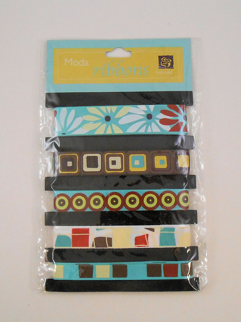 Prima Marketing Moda Ribbons pack Mod Embellishments for bows crafts