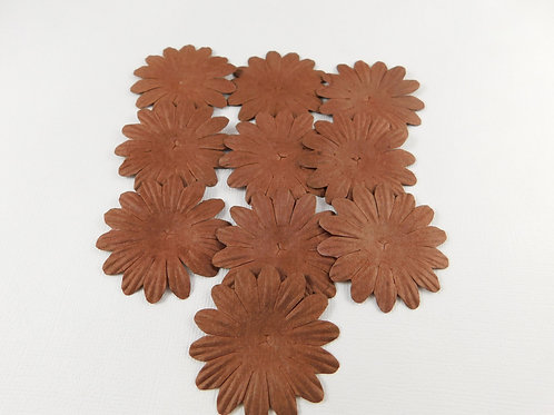 Eco Friendly Mulberry Paper Flowers Coffee Brown No 103