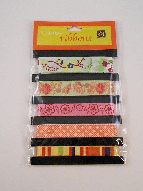 Prima Marketing Odyssey Ribbon pack 5 designs 511845 sale Scrapbooking