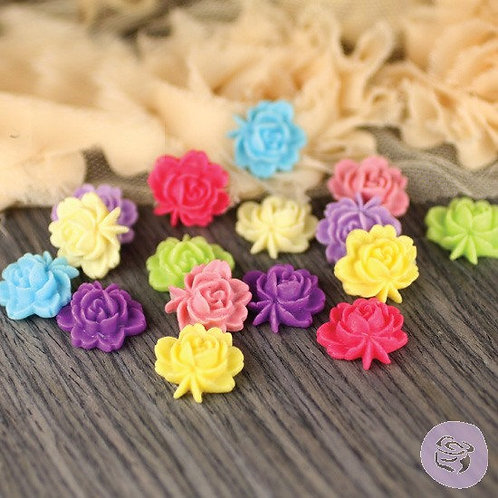 Prima Flowers Arco Iris Collection 16 polymer clay flowers cabbage rose 544409