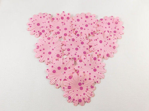 Eco Friendly Mulberry Paper Flowers Pink on Pink Assortment No 103