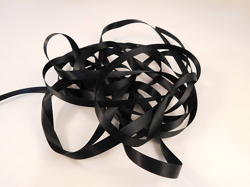 3/8 inch wide Black Double Face Satin Ribbon 5 Yards for scrapbooking crafts car