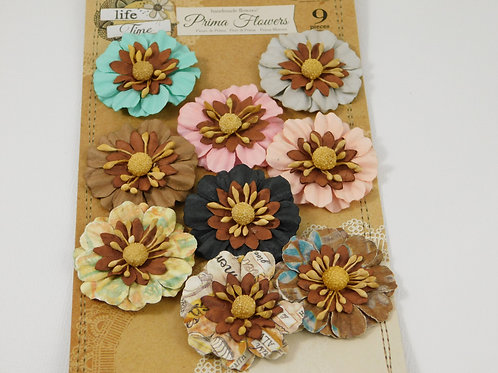 Prima Flowers Lifetime Collection Multi Colored Pack 565534 scrapbooking supply