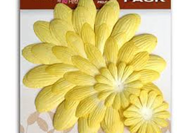 Mulberry Street Giant Daisy Layers Value Pack Yellow