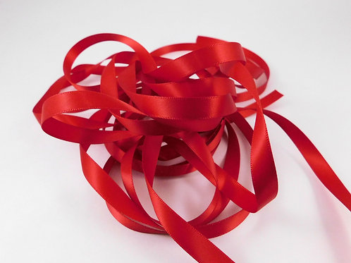 3/8 inch wide Red Single Face Satin Ribbon 5 Yards scrapbooking craft supply