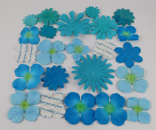 Prima paper flowers sampler assortment 511 aqua and blue scrapbooking prima flowers a sampler assortment set of 23 prima marketing paper flowers in some great shades of blue and aqua there are hydrangeas natural looking mightylinksfo