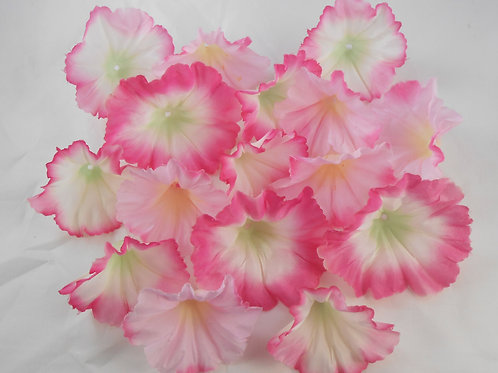 Pink Silk Flowers crafting scrapbooking trumpet floral white embellishment suppl