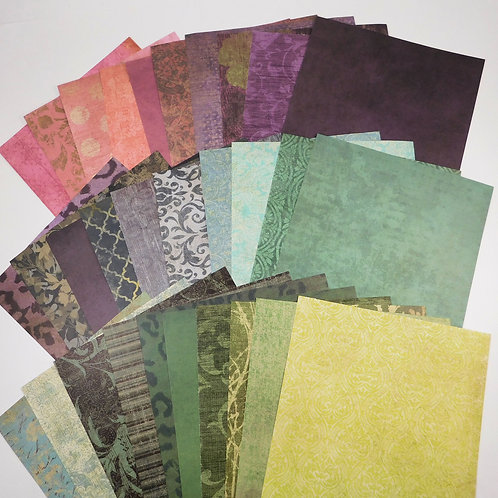 Paper Studio 6x6 Tattered and Worn SAMPLER Paper Pack 30 No 120