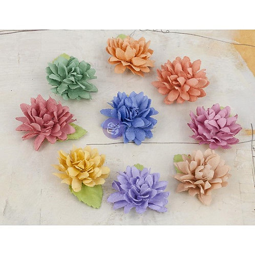 Prima Flowers Lil Missy Flower Multi Colored Pack 571658 paper flowers
