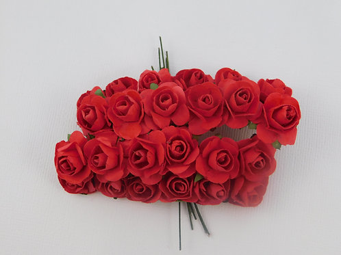 Red Mini Paper Flowers roses with stems supply Floral Flowers cra