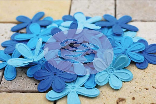 Prima Mulberry Paper flowers Eline E line celebrations teal blue