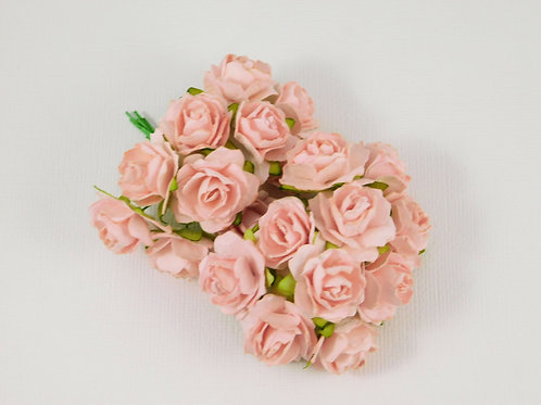 Scrapbooking Paper Flowers roses with stems supply Floral pink craft supplies