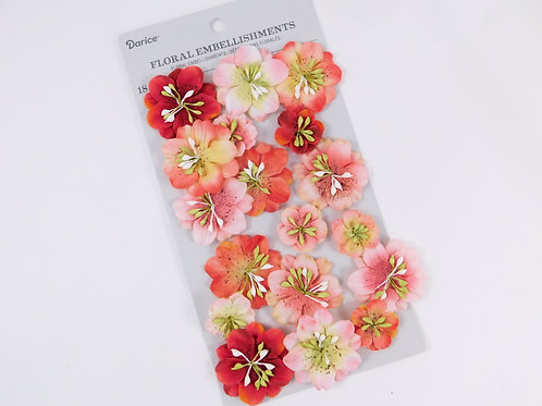 Darice Assorted Flowers Pink Speckle Pack 30062015 mulberry paper flowers