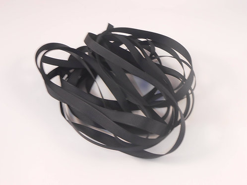 Black Grosgrain Ribbon 3/8 inch wide trim 5 yards embellishment scrapbooking