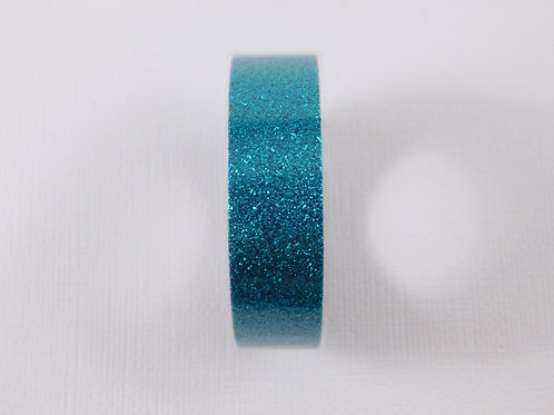 Washi Tape 2.5 meters (2.73 yards) Glitter Aqua Blue Embellishment