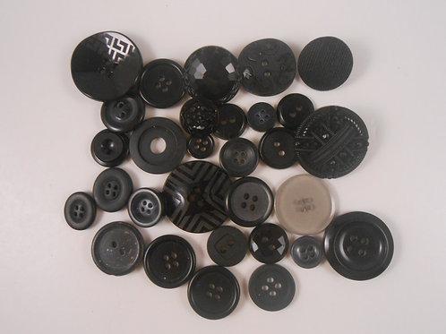 Buttons Embellishments Sampler Assortment Black no 2 craft