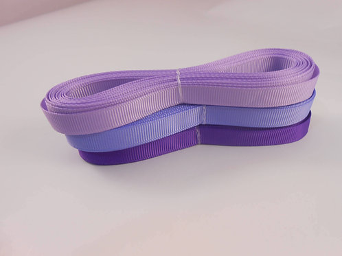 15 Yards total Grosgrain Ribbon 1/4 inch trim light purple shades scrapbooking